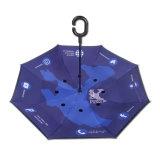 Main Libre d'impression personnalisée Forme C inversé parapluie de voiture