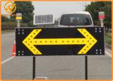 Luz de advertência solar de piscamento do suporte do metal para o cone do tráfego