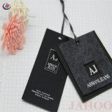 Etiquetas personalizadas y etiquetas de grosor del papel del arte colgar la ropa de etiqueta