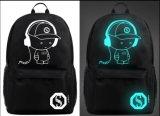 Mochila de alta calidad de los hombres de la luz de la noche de la bolsa de equipaje Casual Mochila Mochila escolar bolsa para portátil Yf-Pb al aire libre1835