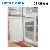 2 portas dobram o refrigerador da temperatura e o congelador/refrigeradores comerciais do gás/gêmeo