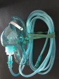 Masque à oxygène de PVC avec le clip réglable de nez
