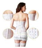 أبيض شريط نساء وسط مثمرة ينحل جسم مشكّل حزام سير مشدّ