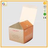 Rectángulo de papel de la cartulina, rectángulo cosmético, rectángulo de regalo, impresión de empaquetado del rectángulo