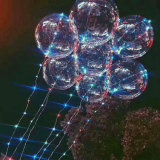 Os balões leves do diodo emissor de luz do balão transparente que Wedding o partido do Xmas do aniversário iluminam a decoração