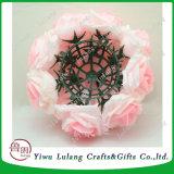 유행 거는 장식적인 인공적인 로즈 실크 꽃 공 중앙 장식품 를 위한