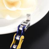 Prata Cadeia de bicicleta Corrente de pulseira Fivela Pulseira em aço inoxidável personalizado