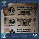 Sticker van de Laser van de Serienummers van de douane de Zwarte voor Kledingstuk