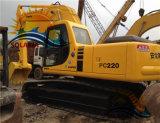 Excavador hidráulico original usado de la correa eslabonada de KOMATSU PC220-6 del excavador de Japón del material de construcción para la venta