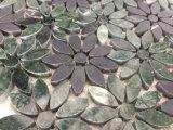 ヒマワリの緑の黒く自然な大理石のモザイクインテリア・デザイン