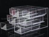 Anneau de bijoux en acrylique transparent OEM tiroir de rangement Exposition Présentoir