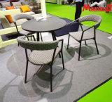 Corda de novo design da tecelagem de mesa de jantar e cadeiras