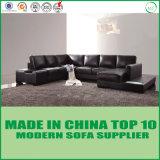 Ue-förmig moderne hölzerne lederne Sofa-Ausgangsmöbel mit LED-Licht