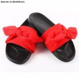 Deslizadores/diapositivas/sandalias de encargo de la felpa de la nueva del diseño CJ-RB-0055 sandalia de Ladys