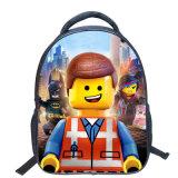 13インチのの高さの品質のLegoの漫画のバックパックの多彩な子供の通学かばんは子供学生の男の子のランドセルを冷却する