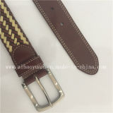 Fashion Simple Leather and Knitting machine Threads Braided Belts