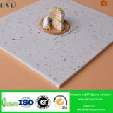 Bancada branca sintética da pedra de quartzo da faísca