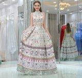 Длиннее напечатанное платье свадебного банкета