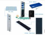 100W Lámpara de aluminio Material del cuerpo calle la luz solar, la luz del panel solar