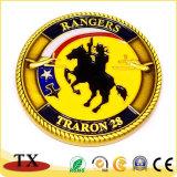 Médaille faite sur commande de cavalerie de marine de pièce de monnaie de souvenir de médaille d'or