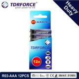 1,5 V de la Chine usine Prix de gros de la batterie au carbone-zinc (R03-AAA 16pcs)