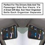 Pequeño organizador auto del visera de Sun del coche del sostenedor de documento de la bolsa del almacenaje del poliester durable