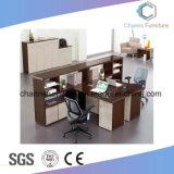 La parte superior abierta la venta de madera de la partición de la Oficina de Zona Estación de trabajo con armario lateral (CAS-W1881)