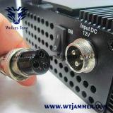 Hoge Macht 6 Antenne WiFi, VHF, UHF en 3G de Stoorzender van de Telefoon van de Cel