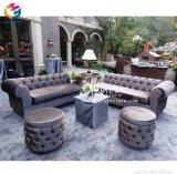 Weinlese-Couch-Sofa mit Diamant-/Tasten-Wohnzimmer-Sofa