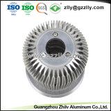 China LED de extrusão de alumínio anodizado personalizados com a norma ISO9001