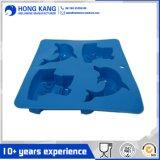 Großhandelsdelphin-Form-Eis-Tellersegment-Würfel-Form-Silikon eingefroren