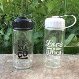 Sin BPA de boca ancha portátil Cristal Deportes en botellas de agua