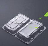 Scatola di plastica a gettare su ordinazione del fornitore di imballaggio per alimenti della copertura superiore con i divisori per memoria