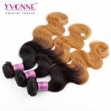Peruanische Ombre Karosserien-wellenförmiges Haar-Extensions-Farbe T1b/30 Yvonne-100%