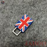 Pavilhão do Reino Unido de design personalizado de fecho de correr em borracha para roupa