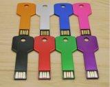 Chave de metal de vendas quente Unidade Flash USB de 8 GB16GB pendrive