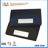 Heiße Verkaufsförderungs-Metallleder-Kartenhalter-Visitenkarte-Kästen