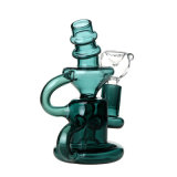 Tubo que fuma de cristal de agua del tubo del reciclador del océano de la cachimba de cristal del color
