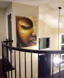 Home DecorationのためのハンドメイドのGolden仏Oil Paintings