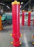 Único RAM telescópico ativo do cilindro do petróleo hidráulico para a grua do caminhão de descarga