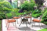 新しいデザインスタック可能使用されたレストランの鋳造アルミの家具