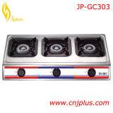 Doppio piano d'appoggio di vetro Tempered del fornello di gas del bruciatore Jp-Gcg258