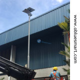 80W 옥외 태양 제품은 태양 제품에 있는 LED 센서 정원 가로등을 강화했다