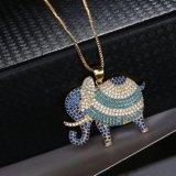 De Halsband van het Kristal van het Kostuum van de Juwelen van de Manier van de Tegenhanger van de olifant