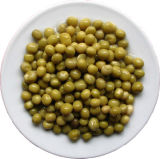 Guisantes verdes enlatados altamente deliciosos
