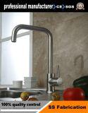 Le robinet du bassin de pont en acier inoxydable 304 monté sur le robinet du dissipateur