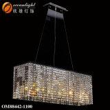 El lustre de la cadena de plata Luminare soluciones de diseño lámpara de araña araña de Om88442-1100 Internacional