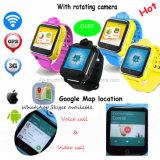 Neuestes 3gwifi scherzt GPS-Verfolger-Uhr mit Umdrehungs-Kamera D18s