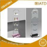 Clair sauter vers le haut le présentoir en plastique d'exposition de montre cosmétique acrylique de partie supérieure du comptoir avec l'éclairage