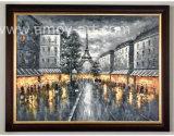 Qualitäts-handgemachtes Paris-Straßen-Szenen-Ölgemälde durch handgemachtes